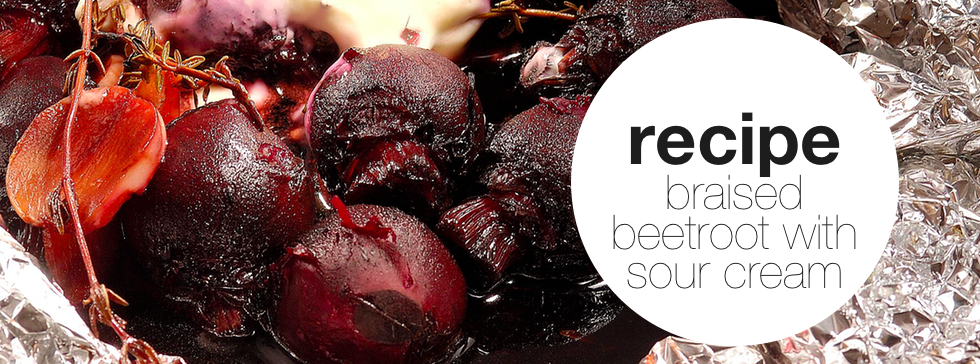 Braised Beetroot with Sour Cream